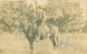 Earl Corn on horseback