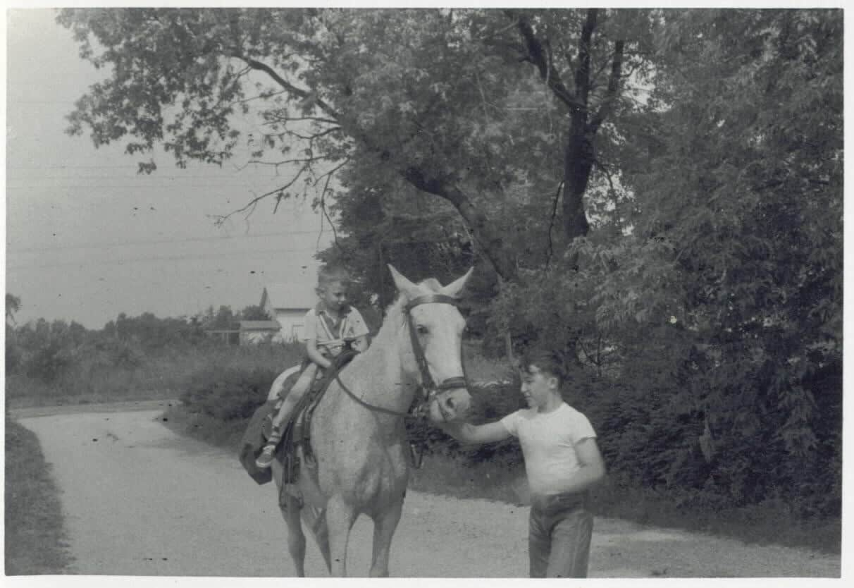 My father-in-law on horseback